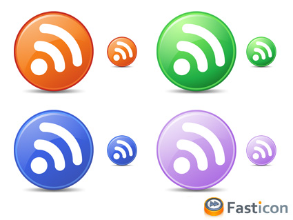 Feed icons from Fasticon