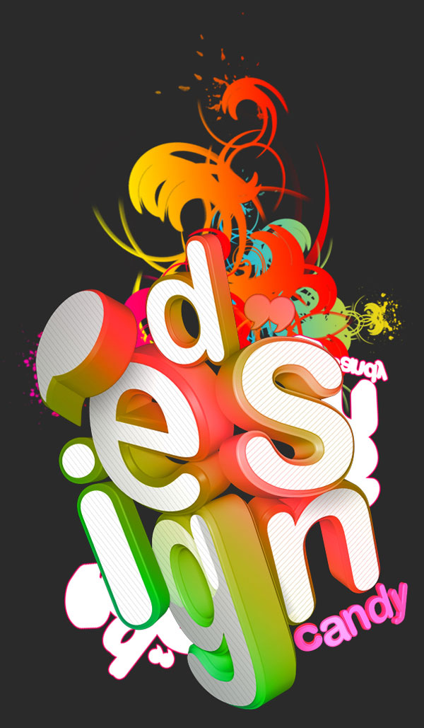 Beautiful 3d Typography 08