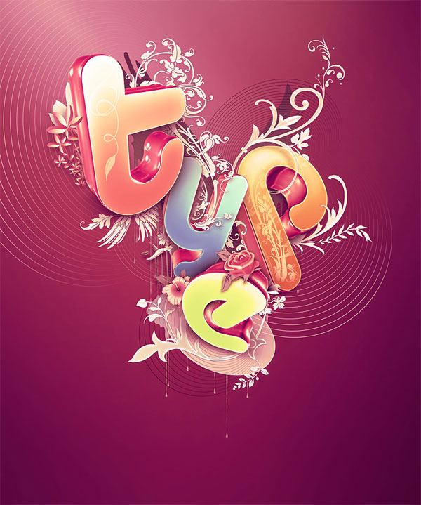 Beautiful 3d Typography 20