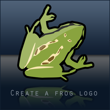 Create a frog logo in Photoshop