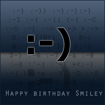 25th Birthday of the Smiley