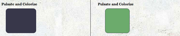 CSS3 and jQuery Animations - Pulsate and Colorize