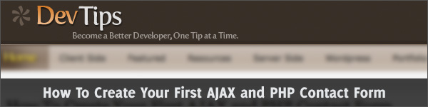 How To Create Your First AJAX and PHP Contact Form