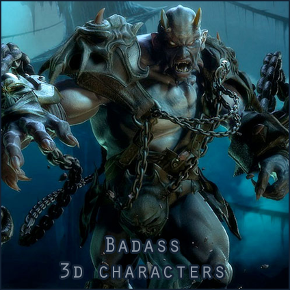 Badass 3d characters