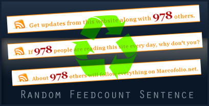 Place your feedcount in a random sentence